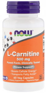 NOW L-Carnitine Fitness Support Caps 500 мг